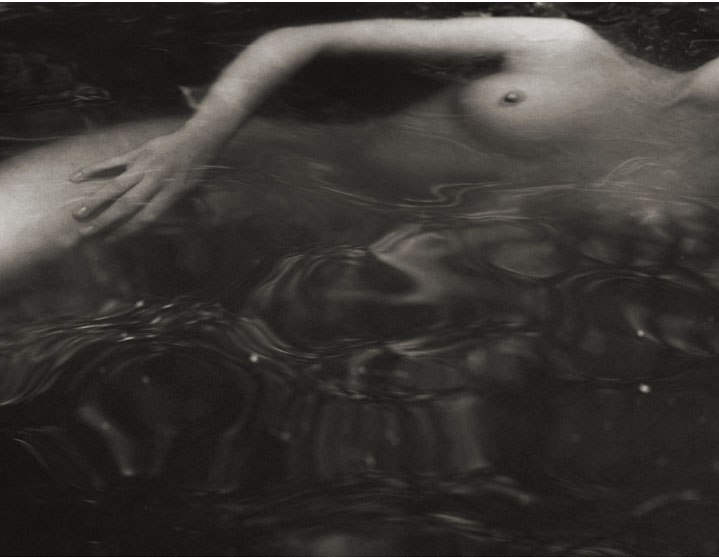 Tiffany #12 - Swimming , 1998  Platinum/Palladium photograph.   11 5/16 x 15 3/4 inches
