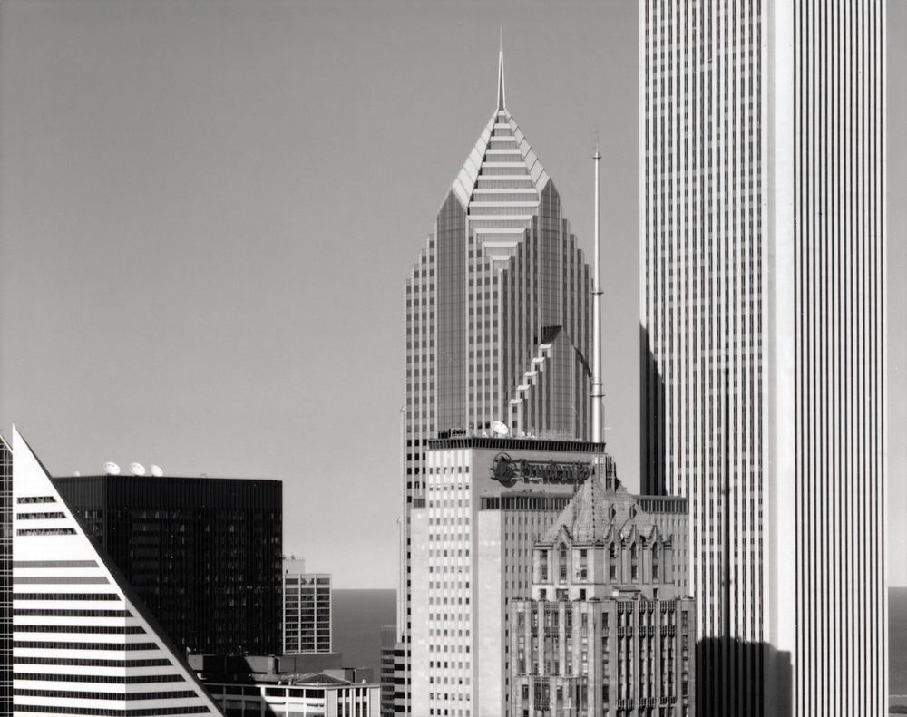 View from Xerox Building, 55 W. Monroe , 2000  Gelatin silver photograph.  16 3/4 x 21 7/8 inches