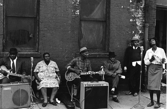 Maxwell Street, Chicago , 1965  Gelatin silver photograph.   115/8 x 17 1/4 inches