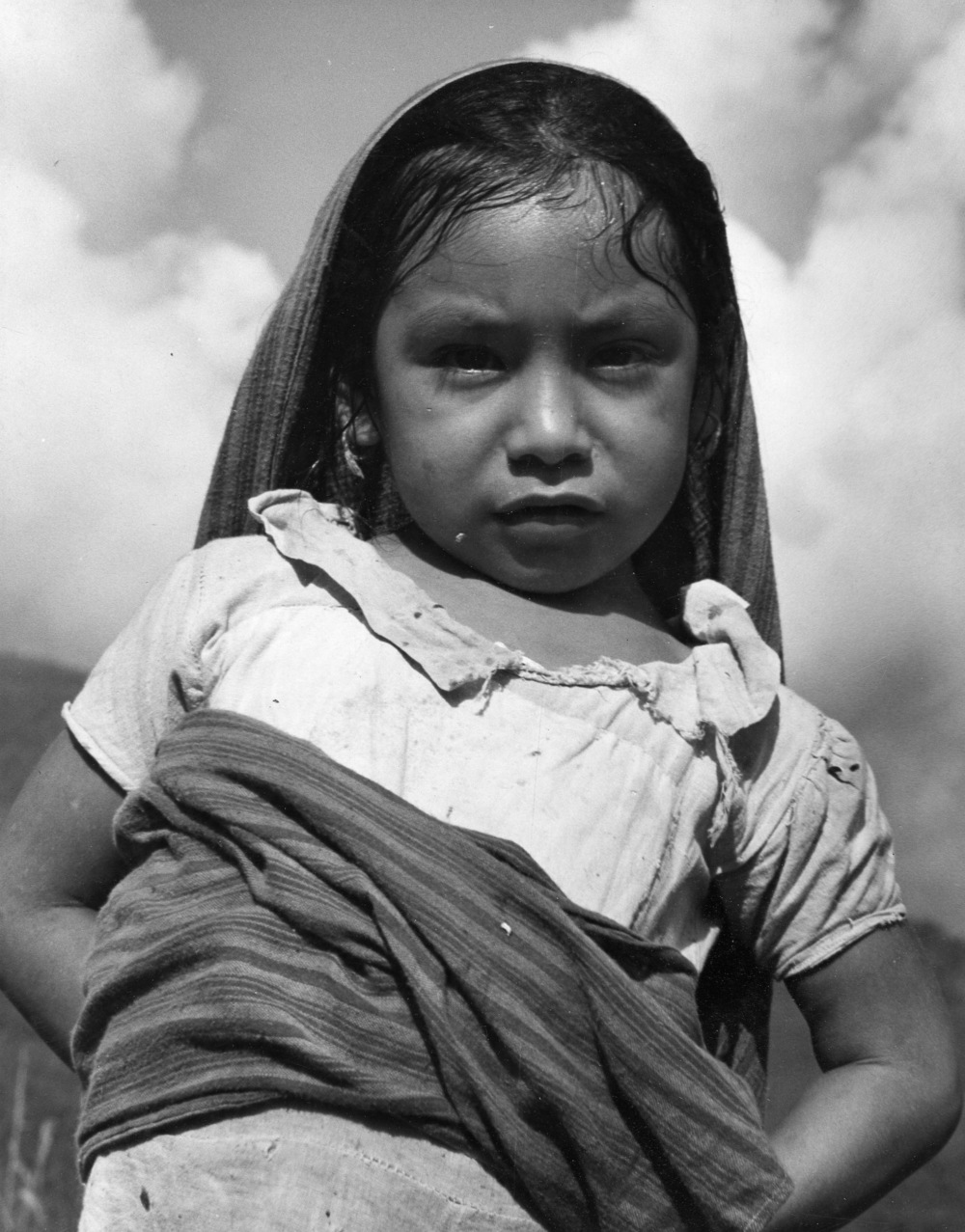 Tamazunchale Child , 1948  Gelatin silver photograph on mount.   13 3/8 x 10 1/2 inches