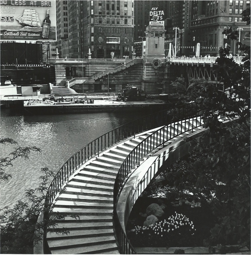The Stairway near Equitable Bld , Chicago, 1966  Gelatin silver photograph.   7 1/2 x 7 1/2 inches