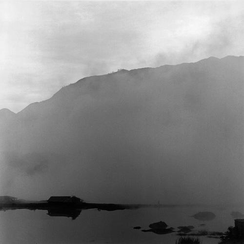 """Camino desconocido"", Oropesa, Perú , 2002  Silver gelatin print.  11 x 14 inches (paper)"