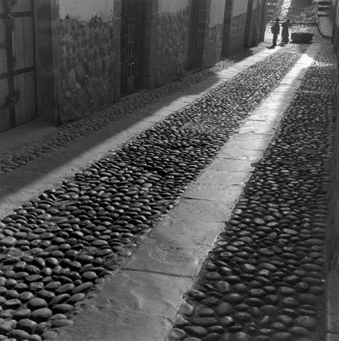 """Sendero iluminado"", Cuzco, Perú , 2002  Silver gelatin print.  11 x 14 inches (paper)"