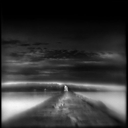 Breakwater Light   Hand-varnished, archival pigment print.   24 x 14 inches