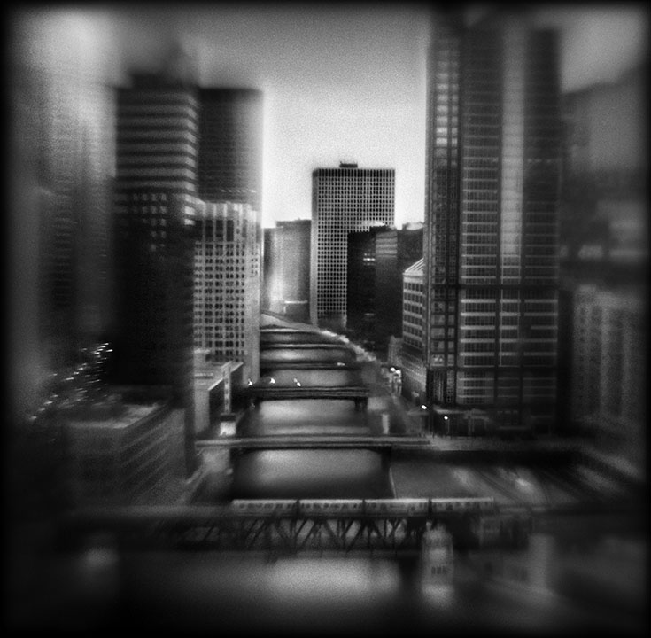 River North, 4:58 AM   Hand-varnished, archival pigment print.   16 x 16 inches
