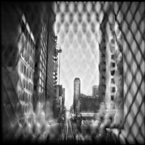 Madison and Wabash, 11:42 AM   Hand-varnished, archival pigment print.   16 x 16 inches