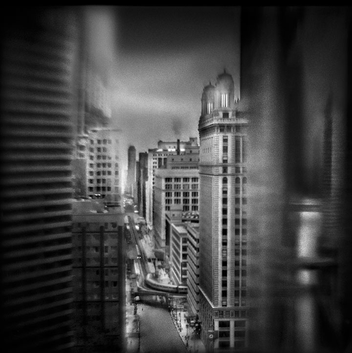 Lake & Wabash, 7:02 AM   Hand-varnished, archival pigment print.   16 x 16 inches