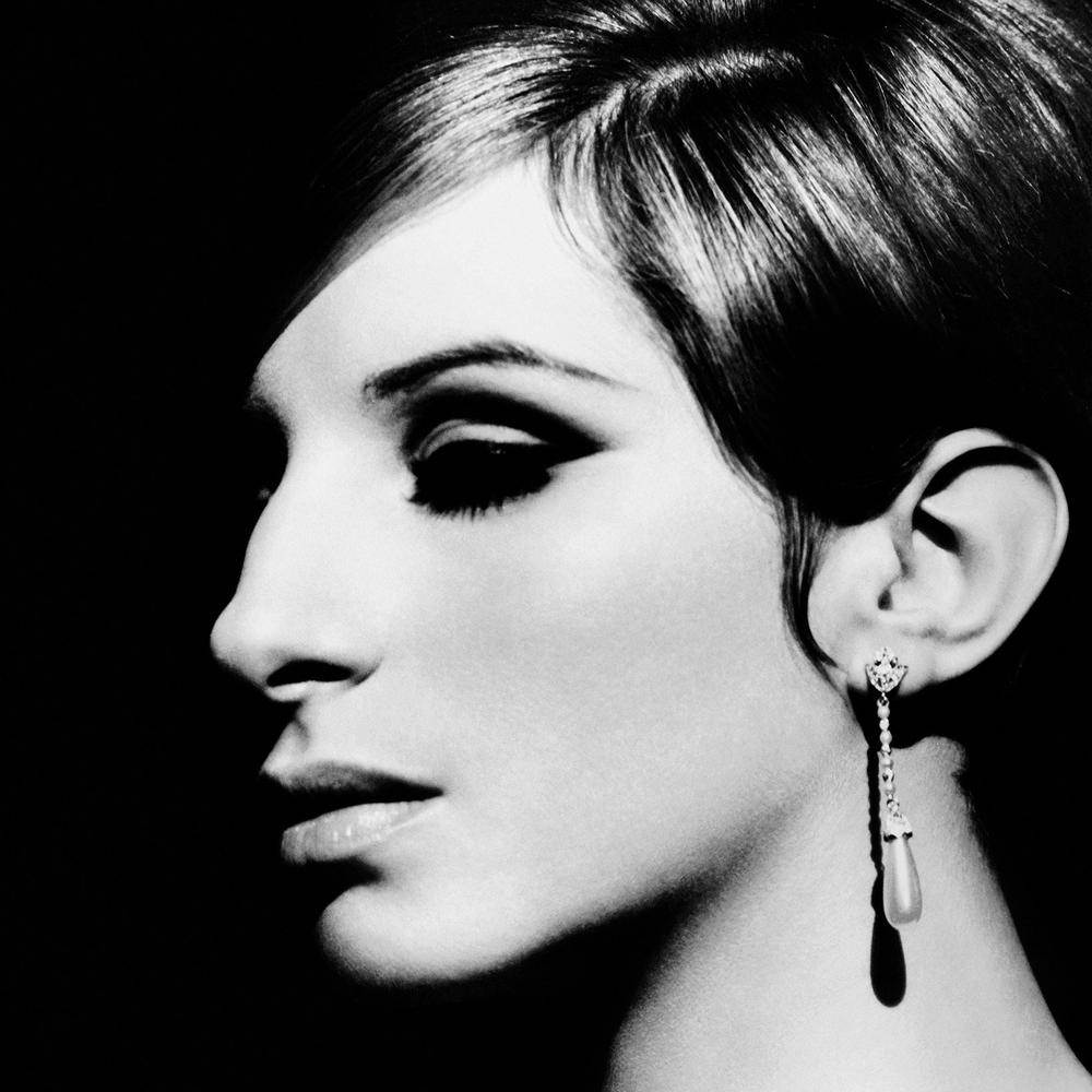 Barbra Streisand with Pearl Earring, LA  , 1974