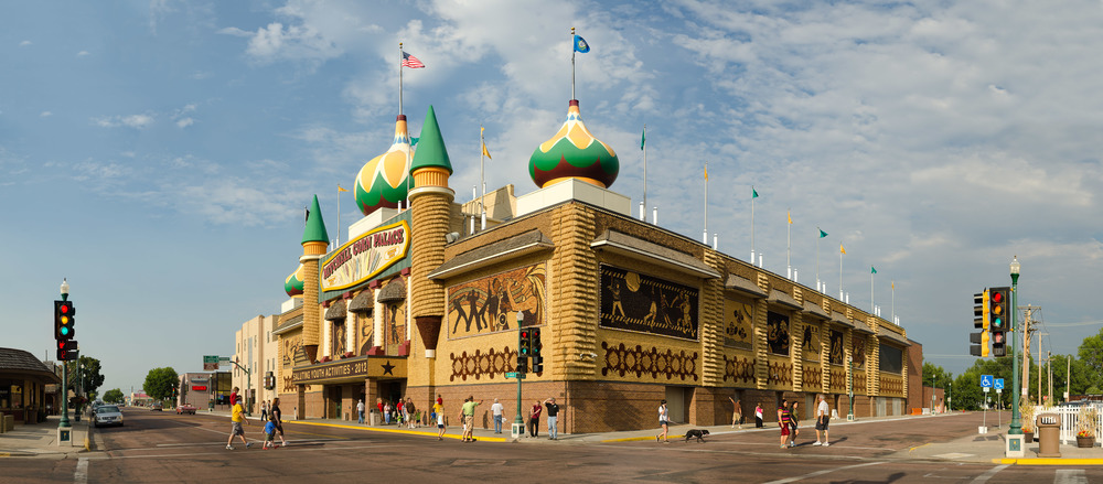 The Corn Palace; Mitchell, SD, 2012    Archival pigment print.    20 x 45 inches