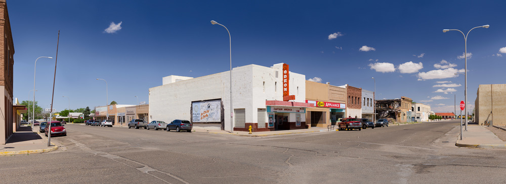 Tucumcari, New Mexico, 2014    Archival pigment print.   20 x 55 inches
