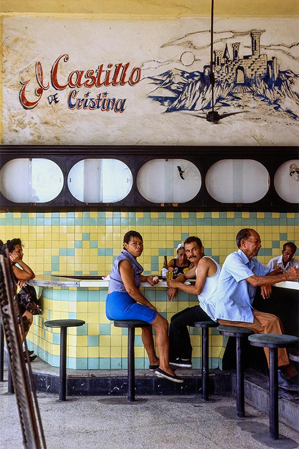 El Castillo Bar , Havana, Cuba, 1999  Archival pigment print.  20 x 13 3/8 inches
