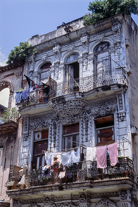 White Fancy House on Paseo del Prado , Havana Cuba, 2003  Archival pigment print.  20 x 13 3/8 inches