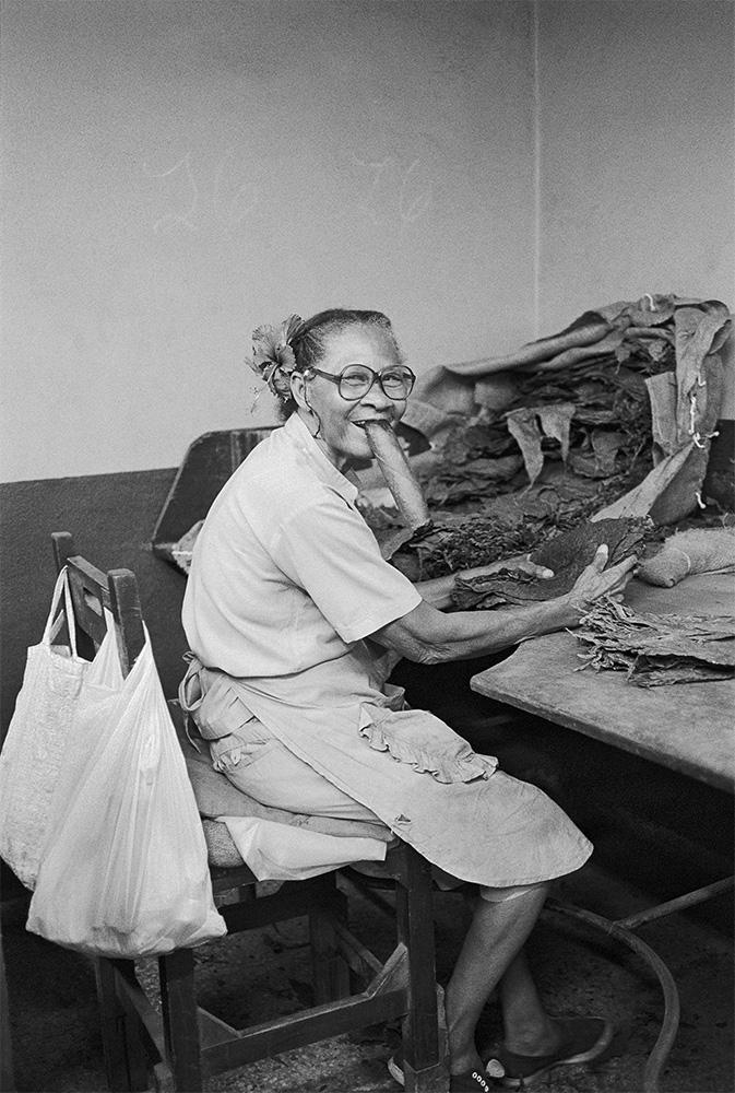 Cigar Lady , Havana, Cuba, 1999  Archival pigment print.  20 x 13 3/8 inches