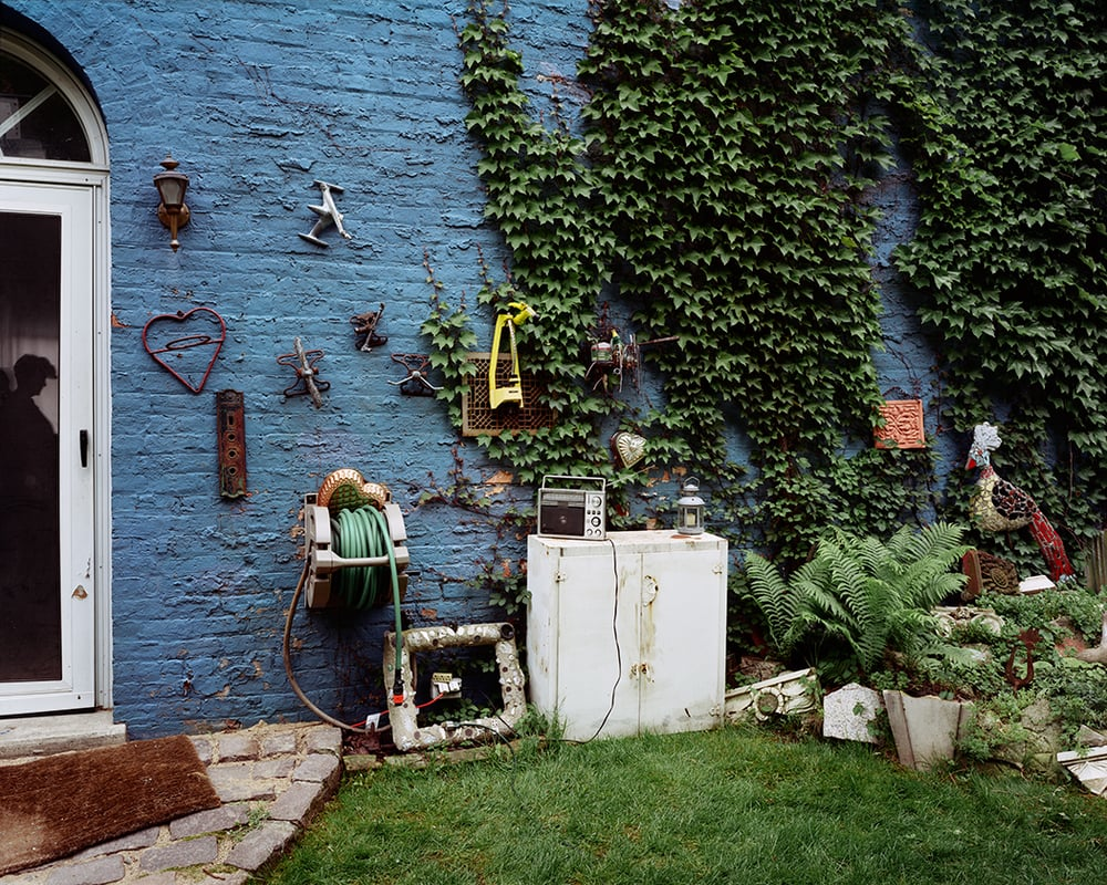 Blue Wall - Wicker Park, Chicago, IL,  2002  Archival pigment photograph.    17 x 21.25 inches