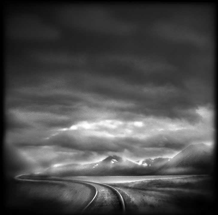 Seward Highway,   3:16PM     Hand-varnished, archival pigment print.     16 x 16 inches