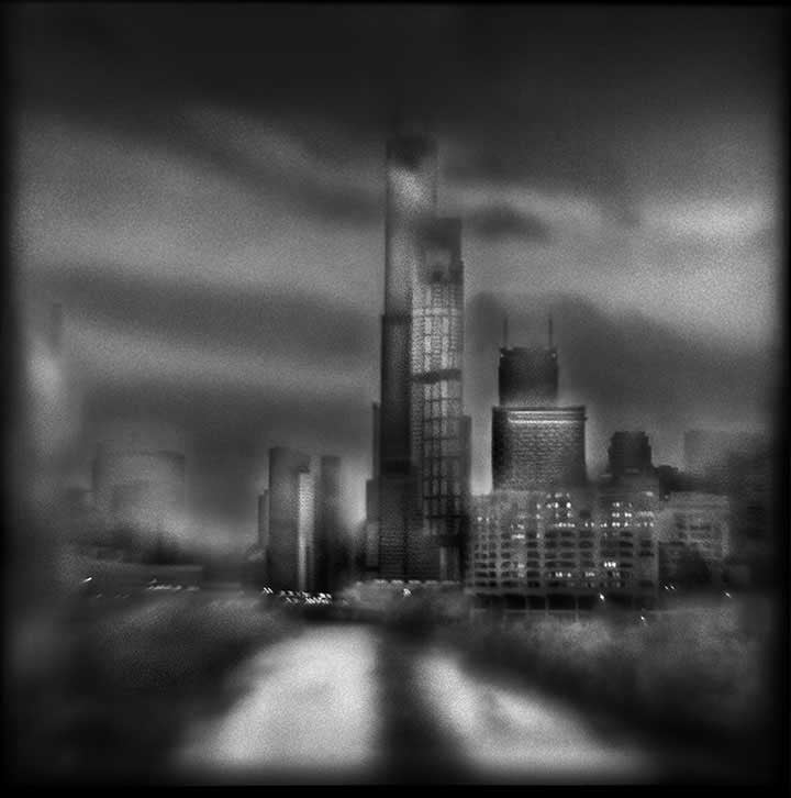 Sears Tower,   7:20AM    Hand-varnished, archival pigment print.  16 x 16 inches
