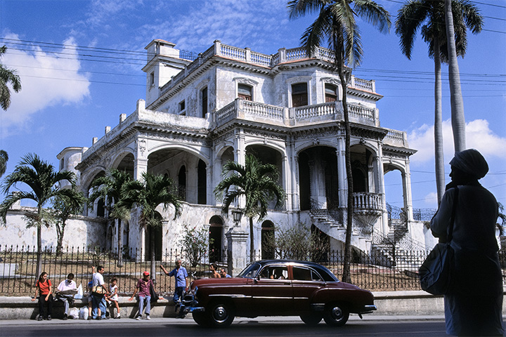 "Old Social Club , Havana, Cuba, 1999  Archival Inkjet Print  20 x 13 3/8"" $800"
