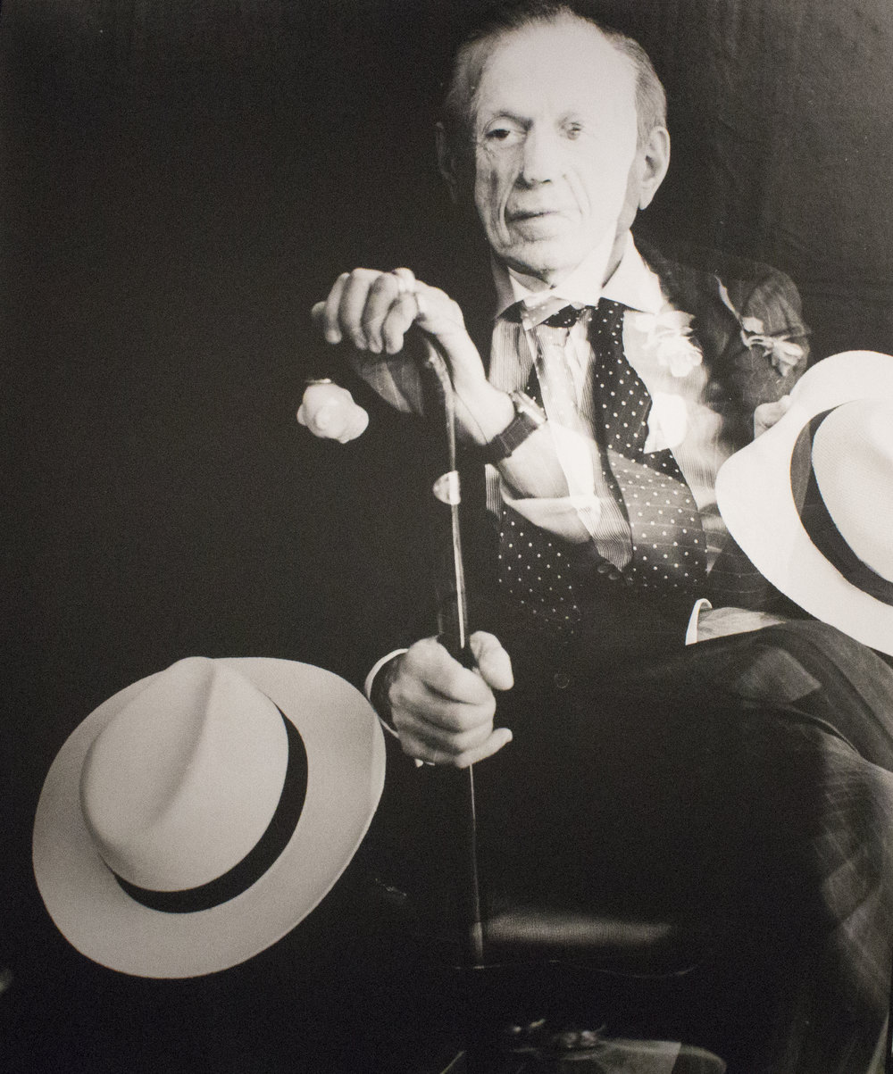 "Portrait of Richard Harlan Blond (The World's Most Interesting Man) , 2012  Gelatin Silver Photograph  23 3/4 x 19""  $1600"