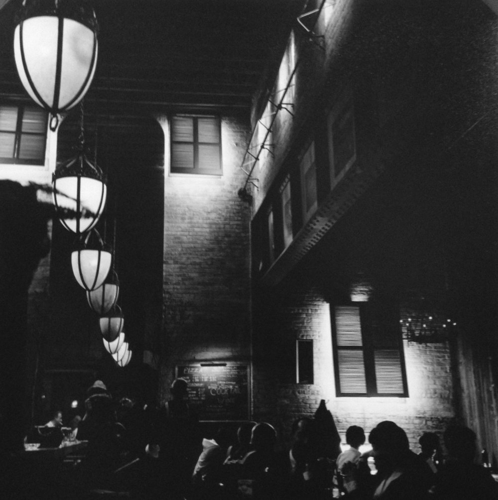 "Old Town Cafe , Chicago, 1967  Silver Gelatin Photograph  10 3/4 x 10 1/2""  $750"