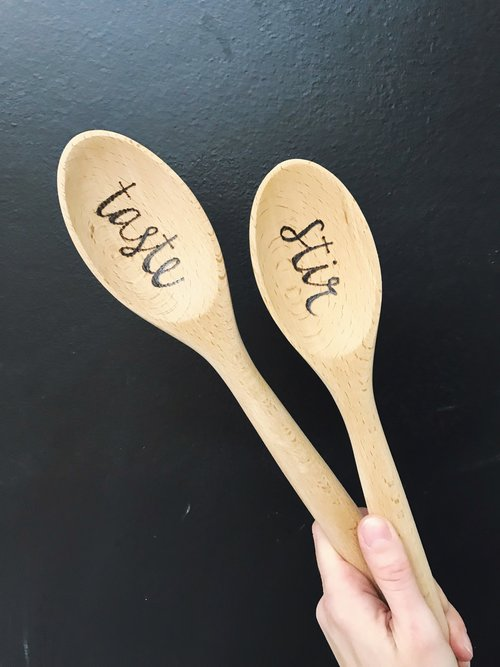 8ef71d493f706 Wood-burned Spoons (set of 3); Tuesday, May 29th, 7-8:30 PM