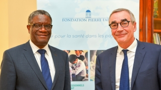 Dr. Denis Mukwege and Pierre-Yves Revol, Fondation Pierre Fabre's president