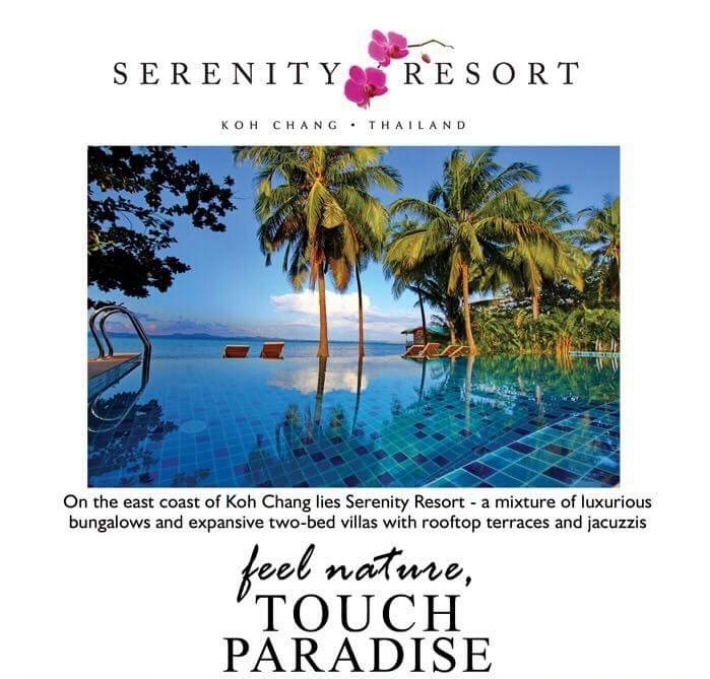 A trip to Thailand! - A once in a lifetime trip to Thailand for 2 people! Six nights at the beautiful Serenity Resort in Koh Chang! Also included is an elephant trek and a snorkeling trip! Dates subject to availability.ww.serenity-koh-chang.com