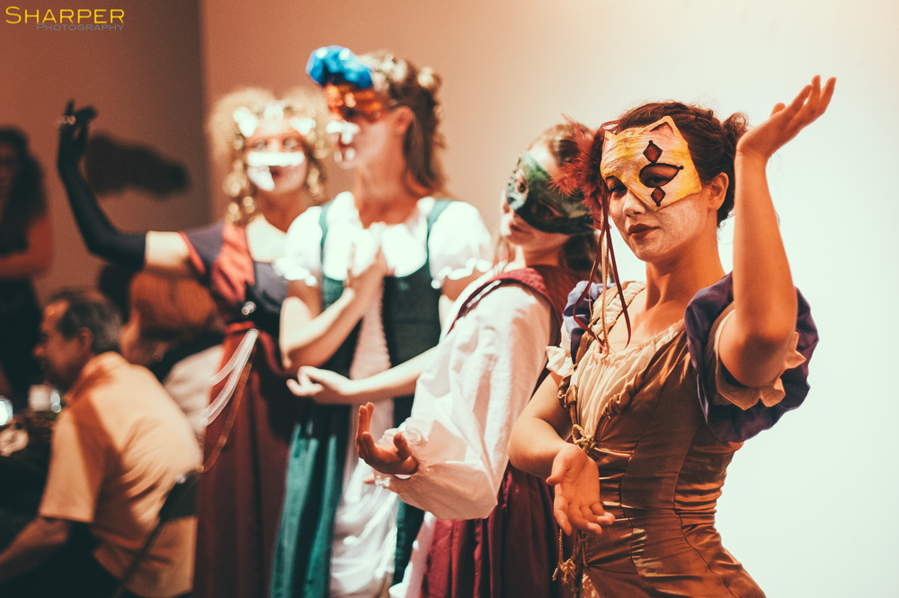 Masquerade actors at Austin immersive theater show