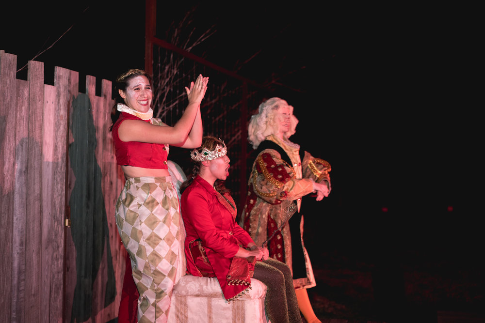 Renaissance actors performing in Austin theater performance