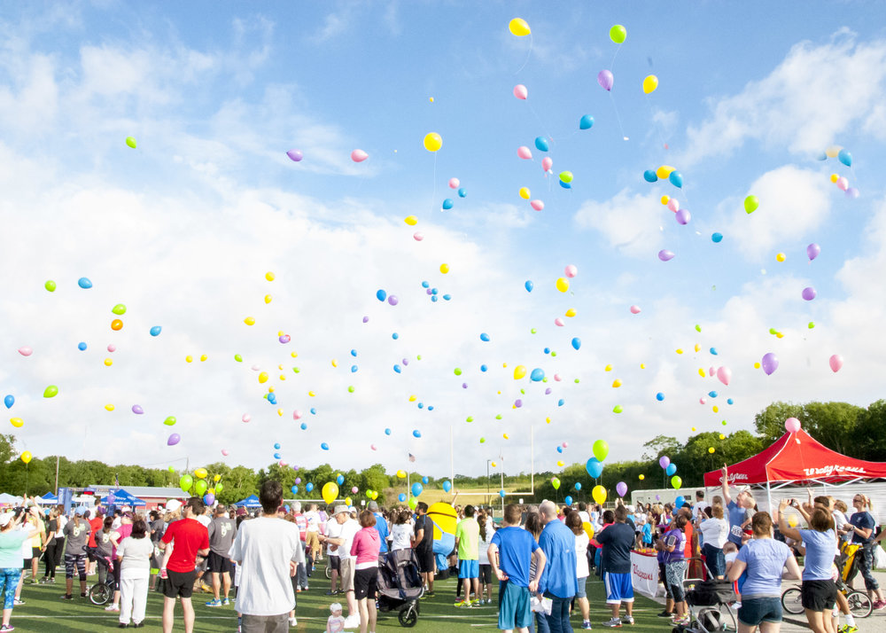 2016 Memorial balloon release, wheatley Heights sports complex