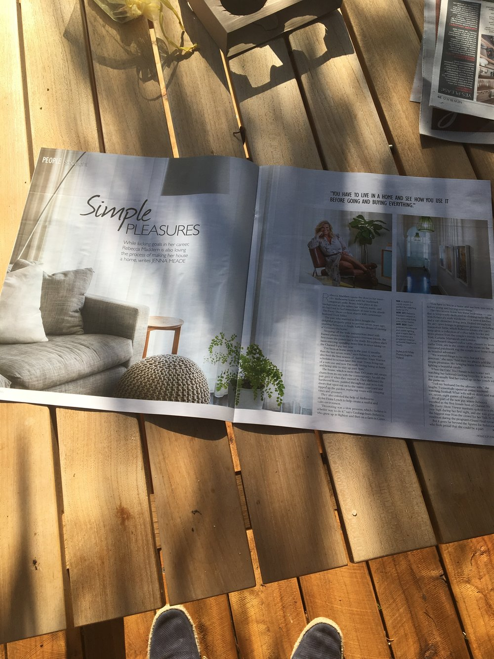 A nice @habariprod shoutout in Melbourne's Herald Sun, featuring our three prints which line the walls of Rebecca Maddern's beautiful home.  Home Magazine is inserted every Saturday into Victoria's biggest selling newspaper the  Herald Sun.