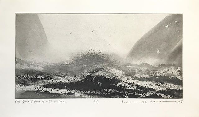 'On Soay Sound, St Kilda' Norman Ackroyd ~ My happiest place ~ Who needs coffee when you have an etching like this to spring you out of bed and remind you of so many merry memories. The #serpentine will have to do for now!