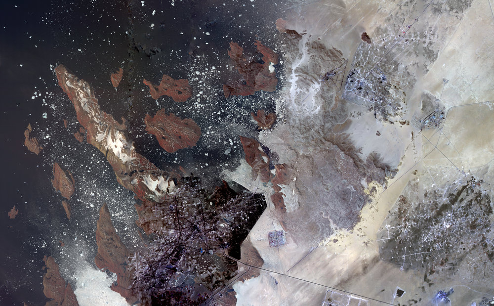 NASA Stack No. 1 (Iceberg Incubator, Jebel Uweinat, Kuwait Oil Fields)