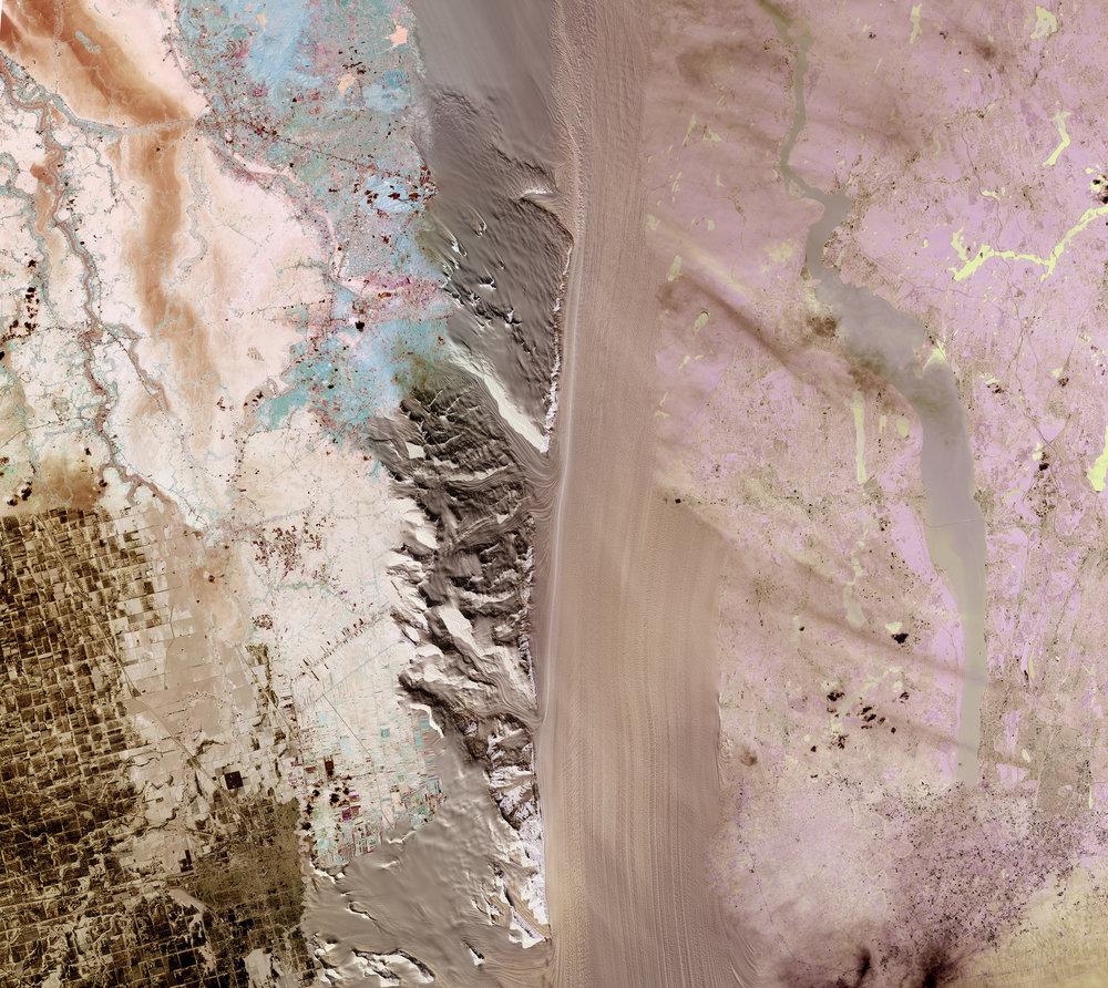 NASA Stack No. 9 (Flooding in North Dakota and Thailand, Byrd Glacier Antartica, Phosphate Mines Jordan)