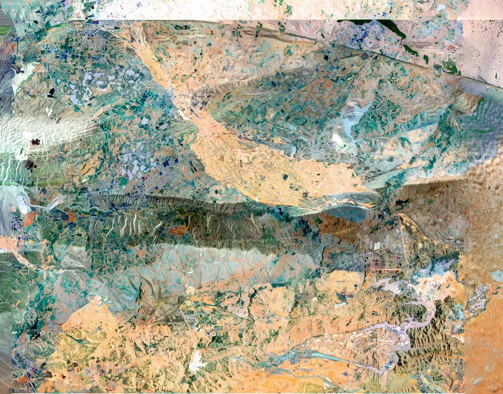 NASA Stack No. 11 (Gold Mining in Siberia, Northern California Fires  and Kashgar, China)