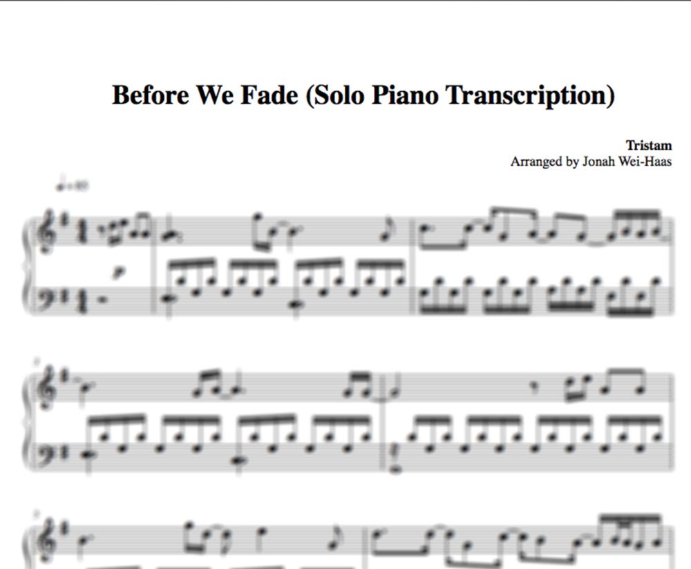 Sandstorm Piano Cover Transcription Jonah Wei Haas