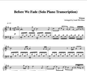 Sheet Music Jonah Wei Haas