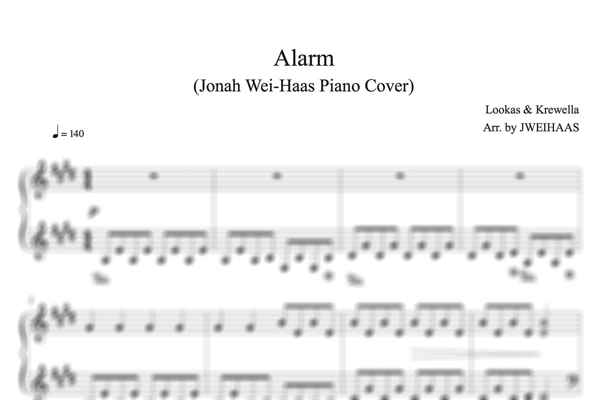 ALARM (PIANO COVER TRANSCRIPTION)