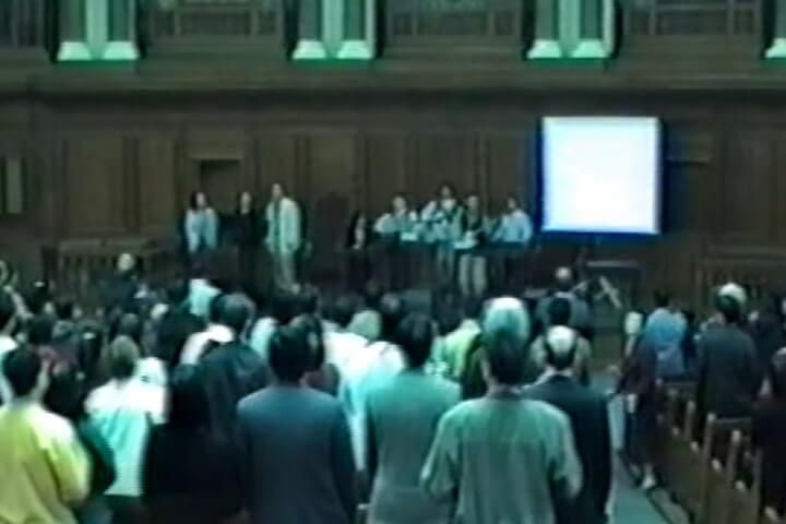25 May 1997 - Pentecost Sunday: First service at Emmanuel Church