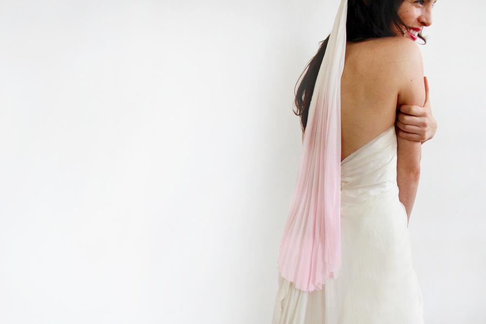 Ombre Silk Tulle Veil