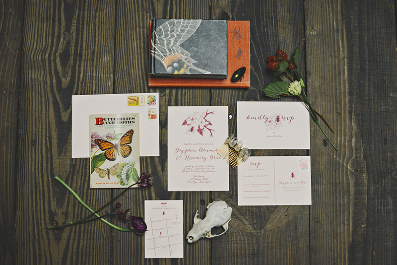 The Moody Romantics Invitations by Of Note Stationers