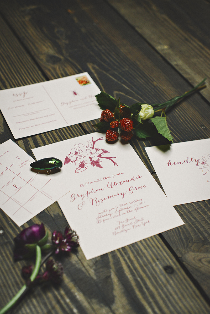 The Moody Romantics Wedding Inspiration Kerry Ann Stokes Invites by Of Note Stationers