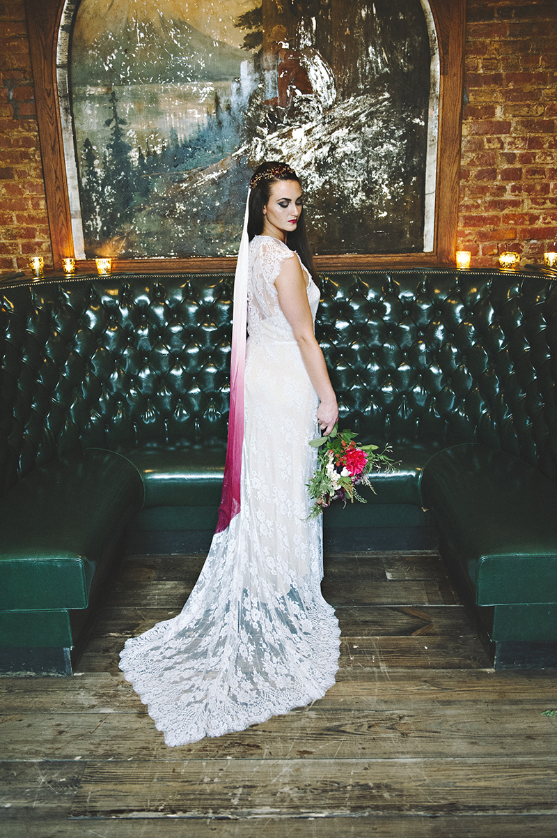 The Moody Romantics Wedding Inspiration Kerry Ann Stokes Ombre Veil by Kerry Ann Stokes Lovely Bride New York