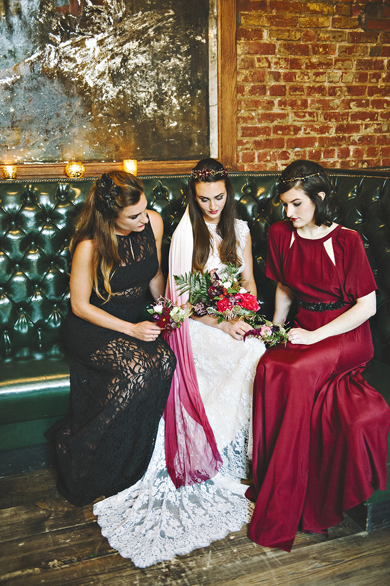 THE MOODY ROMANTICS STYLED BRIDAL SHOOT Friendsgiving on Kerry Ann Stokes and Ruffled Blog