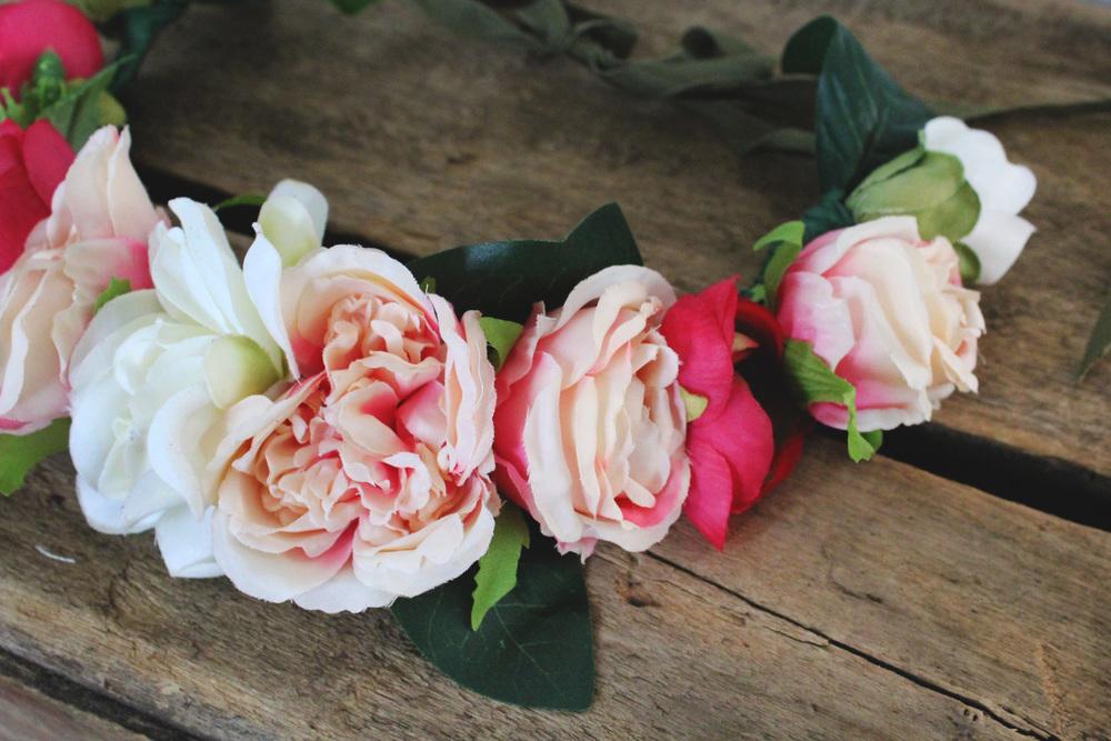 Blush Peony Flower Crown New York City Wedding