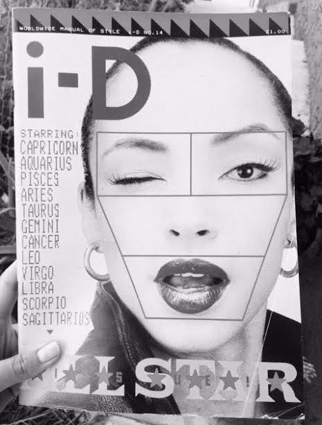 The Working Women's Club - Sade on the cover of i-D Magazine, 1983. thewwclub.com