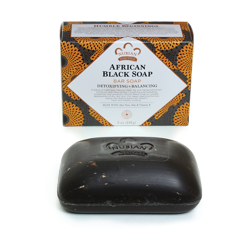 Currently rediscovering the joys of bar soap with this zit-busting version by  Nubian Heritage .