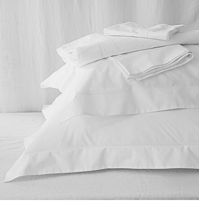 T  hese Luxury Savoy sheets  by The White Company feel crisp and clean, even on sweaty summer nights.