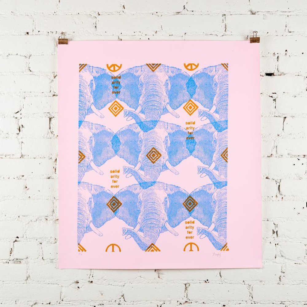 I'm really feeling pink + blue atm (can you tell?!) This print from Picture Room  satisfies the theme.