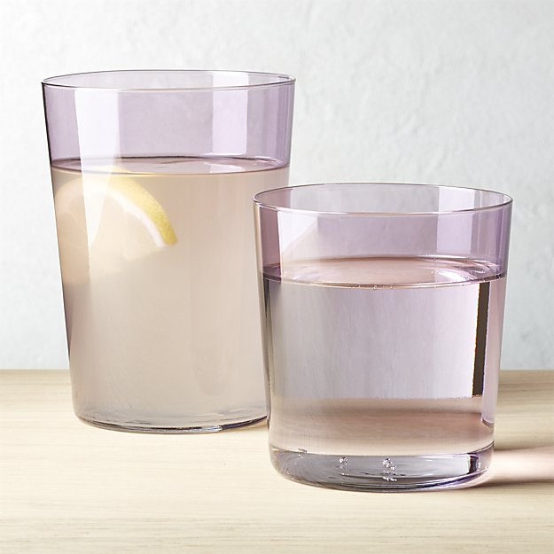Can't. Stop. Buying. Stuff. At. CB2. Stuff like this Marta lilac glassware. So pretty! So affordable!