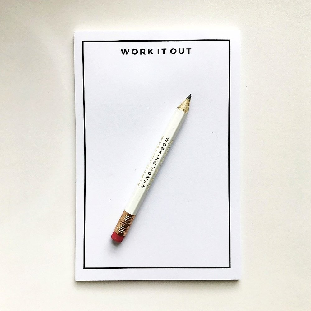 I made notebooks! And cute 'Working Woman' pencils!  Get yours when you pre-order the book from us :)
